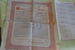 The Mexican Union Railway Obligation De 20 Livre En 1910 - Chemin De Fer & Tramway