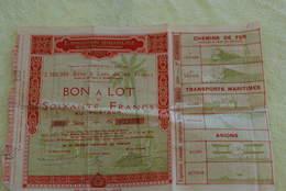 Bon A Lot De 60 Francs Exposition Coloniale - Tourisme