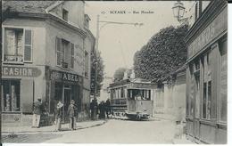 92 - SCEAUX - T.Belle Vue Très Animée De La Rue Houdan ( Beau Plan Tramway , Sièges Abel , Pianos ) - Sceaux
