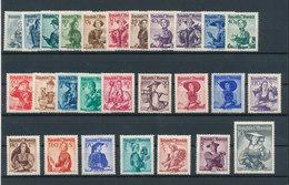 AUTRICHE ÖSTERREICH - Série Courante 1948/50 Yvert N° 738/754A (27 Valeurs) Neufs Sans Charnière  ** MNH Cote 280EUR - 1922-37 Irish Free State