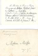 RESIDENCE DE FRANCE  -TUYEN-QUANG (TONKIN)  1927  Pour La Fête De Jeanne D'Arc- CARTE D'INVITATION + ENVELOPPE - Programmes