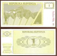Eslovenia - Slovenia 1 Tolar 1990 Pk 1.a Ref 660-1 UNC - Eslovenia