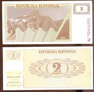 Eslovenia - Slovenia 2 Tolarjev 1990 Pick-2-a Ref 661-1 UNC - Eslovenia