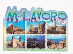 CARTOLINA SICILIA - ABBASSO IL LAVORO - VEDUTINE - Autres Villes