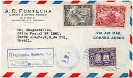 Honduras 1947. Registered Air Cover From Tegucigalpa To Porto Alegre, RS, Brazil. Plants - Honduras