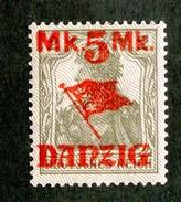 16229  Danzig 1920  Michel #45 II*  ( Cat 8.€ ) Offers Welcome - Danzig
