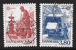 Denmark, Scott # 826-7 Used Europa, 1986 - Denmark