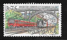 Denmark, Scott # 1075 Used Railway, Trains, 1997 - Denmark