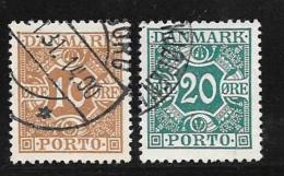 Denmark, Scott # J16-7 Used Postage Due, 1930,1921 - Port Dû (Taxe)