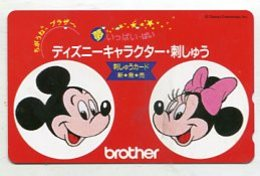 TK12803 JAPAN - 110-011 Disney -  Mickey & Minnie - Disney