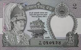 Népal - 2 Rupees - Roi Birendra Bir Bikram - Léopard - NEUF - Nepal
