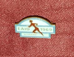 EAID BEOGRAD 1969. BELGRADE- ORIGINAL VINTAGE RARE PIN BADGE MADE BY BERTONI MILANO - Atletica