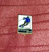KRANJSKA GORA, SLOVENIA, SKIING, ORIGINAL VINTAGE ENAMEL PIN BADGE - Winter Sports