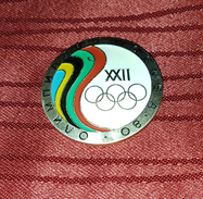 OLYMPIC GAMES MOSCOW 1980. ORIGINAL BIG PIN BADGE - Jeux Olympiques
