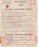 COMITE INT DE LA CROIX ROUGE GENEVE A 8F ORAN ALGERIE POUR FRANCE +EMA - SA 139 - 14/8/44 - PARIS 62 ---  TDA170 - Guerra De 1939-45