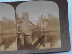 """LLANDUDNO'S CASTLE WALES """" Stereo Photo R.Y. YOUNG """" 1900 ( Voir Photo ) !! - Photos Stéréoscopiques"""