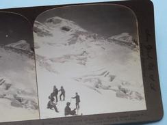 """Ascending The Monarchof The ALPS - MOUNT BLANC 15.730 Ft. SWIZERLAND """" Stereo Photo ( Voir Photo ) !! - Photos Stéréoscopiques"""