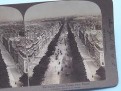 """The FAMOUS CHAMPS ELYSEES Paris France """" Stereo Photo 1901 R Y Young ( Voir Photo ) !! - Photos Stéréoscopiques"""