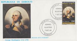 Enveloppe  FDC  1er  Jour    REPUBLIQUE   De   DJIBOUTI    George   WASHINGTON   1982 - Djibouti (1977-...)