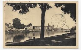(RECTO / VERSO) CORBEIL EN 1935 - N° 4 - LA SEINE - BEAU CACHET - CPA - Corbeil Essonnes