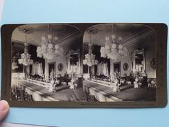 "STATE DINING ROOM President's Mansion, WASHINGTON DC USA "" Stereo Photo "" 190? !! - Photos Stéréoscopiques"
