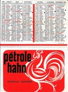 CALENDRIER - PUBLICITE PETROLE HAHN - CALENDRIER 1972 - (petit Format) - Advertising