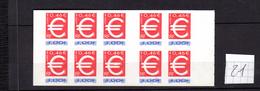 Carnet BC 3215 C 1 , L'EURO NEUF, - Carnets