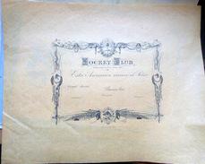 ARGENTINA BUENOS AIRES  JOCKEY CLUB DOCUMENT VIERGE DE MEMBRE  GRAVE PAR STERN 1882 EQUITATION COURSE HIPPISME CHEVAL - Documentos Históricos