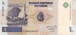 CONGO DEMOCRATIQUE REPUBLIQUE   1 Franc   1/11/1997 (1998)   P. 85a - Congo