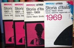3 LIBRI -STORIA D'ITALIA 1861-1969 -DENIS MACK SMITH -UNIVERSALE LATERZA - Libri, Riviste, Fumetti