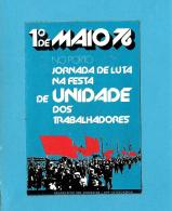 1.º MAIO - 1976 - PORTO - JORNADA DE LUTA - Autocolante Sticker Política - PORTUGAL - Stickers