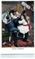 2108  Greenfeild's  Chocolate Sponge  Grandpa And Children  New York - Advertising