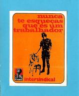 INTERSINDICAL - MILITAR De ABRIL - MFA - Autocolante Sticker Política - PORTUGAL - Autocollants