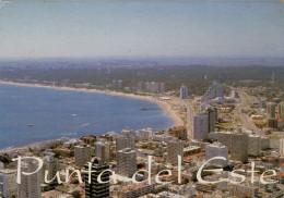 URUGUAY   PUNTA  DEL  ESTE    PLAYA  MANSA (BOLLO NON TIMBRATO)       2  SCAN     (VIAGGIATA) - Uruguay