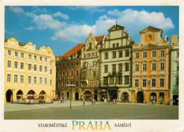 PRAGA   THE  OLD  TOWN  PRAGA  SQUARE (BOLLO  NON TIMBRATO)     2  SCAN     (VIAGGIATA) - Repubblica Ceca
