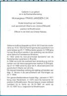 Bp   Mgr.   Janssen   Boschkapelle    Celiana   Jimma - Eth.    Broekhuizen   Venlo - Devotieprenten