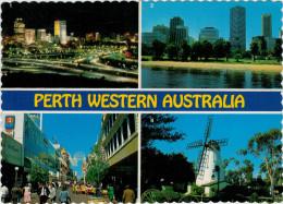 PERTH  WESTERN AUSTRALIA   VIEWS   (TARGHETTA-FLAMME) 2  SCAN     (VIAGGIATA) - Perth