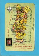 """COMPANHIA De SEGUROS """" PORTUGAL """" - 1954  - Agente Em ALBERNOA - Pocket Calendar - Tamaño Pequeño : 1941-60"""