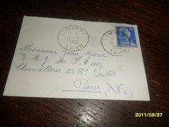1957 -  TARN RARE !!!   -  OBL / C.a.Date PERLEE De LOMBERS Pour PARIS -2 Photos - 1955- Marianne De Muller