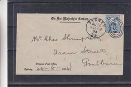 Australie - New South Wales - Lettre De 1894 - Oblit Sydney - Exp Vers Goulburn - 1850-1906 New South Wales