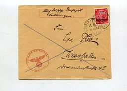 "D.Bes.39/45-Lothringen / 1940 / Bf. ""Deutsche Dienstpost Lothringen"" O Saarbourg, Eisenbahn-Maschinenamt (0609)"