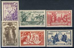 Martinique 1937 Serie N. 161-166 MH Cat. € 15,50 - Martinique (1886-1947)