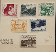 VP010 - 1923 AZERBAIJAN PRIVATE ISSUE PRINTED IN ITALY UDINE - RARE OLD SET - Azerbaidjan