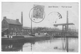 Saint Ghislain (Hainaut - Belgique) - Pont Du Canal. A Circulé (1921), Bon état. - Saint-Ghislain