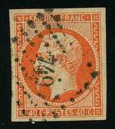 FRANCE - YT 16 - SECOND EMPIRE NAPOLEON III - TIMBRE OBLITERE - 1853-1860 Napoleone III