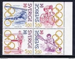 SWEDEN 1992 Olympic Gold Medal Winners III  MNH / **.  Michel 1721-24 - Sweden