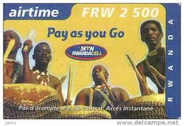 Rwanda, Airtime Recharge FRW 2500 - Rwanda