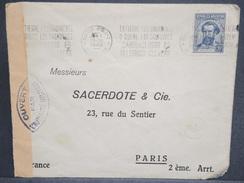 ARGENTINE - Enveloppe Commerciale De Buenos Aires Pour Paris En 1940 , Contrôle Postal Français - L 6506 - Argentinien