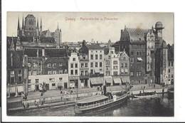16473 - Danzig Marienkirche Und Frauentor Barques - Danzig
