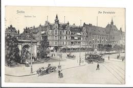 16476 - Stettin Am Paradeplatz Berliner Tor - Pommern